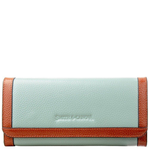Кошелек женский Smith & Canova 26802 Althorp (Blue-Tan)